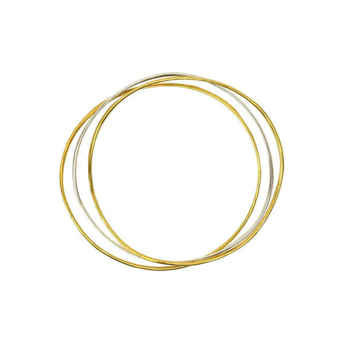 Wave Bangle Cluster - Two Vermeil, One Silver-FRAN REGAN JEWELLERY-JewelStreet US