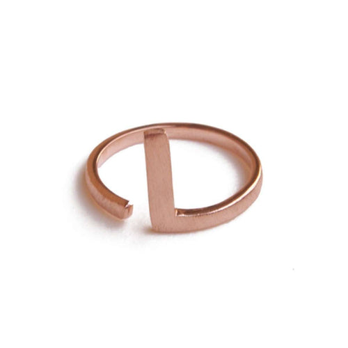 Alphabet - L Ring-ZLABA-JewelStreet US
