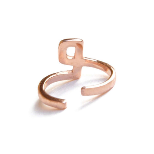 Alphabet - P Ring-ZLABA-JewelStreet US