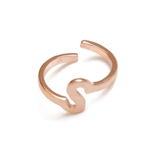 Alphabet - S Ring-ZLABA-JewelStreet US