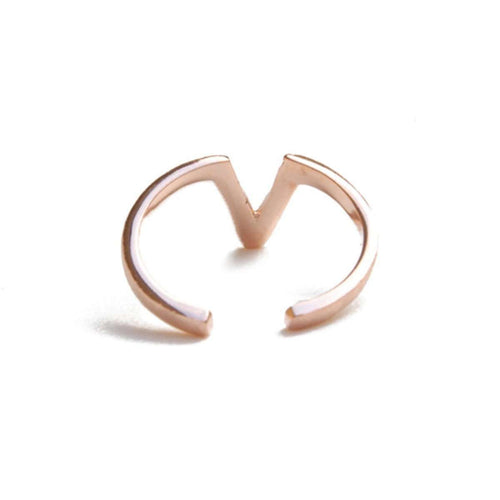 Alphabet - V Ring-ZLABA-JewelStreet US