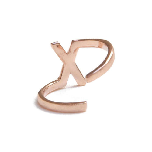 Alphabet - X Ring-ZLABA-JewelStreet US