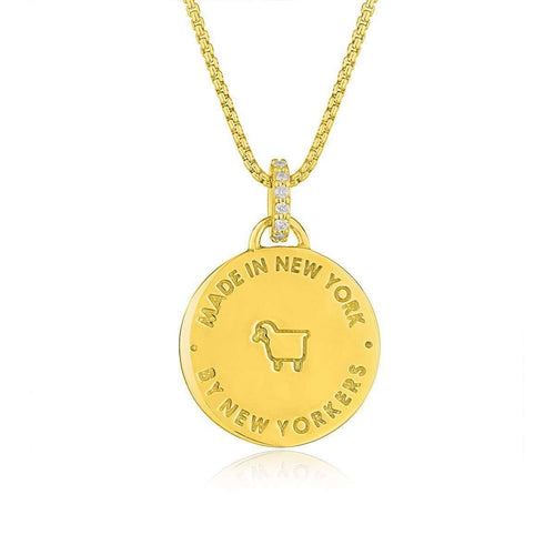 City Manhole Pendant in Gold-Julie Lamb-JewelStreet US
