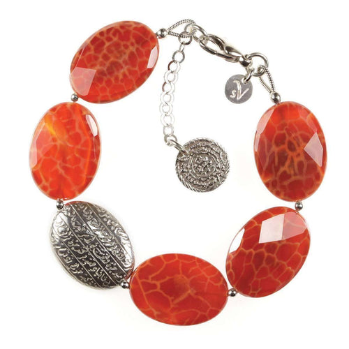Hope burnt agate bracelet-Sima Vaziry-JewelStreet US