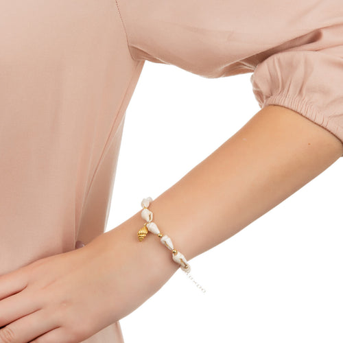 Yellow Gold Plated Spiral Shell Bracelet ,[product vendor],JewelStreet