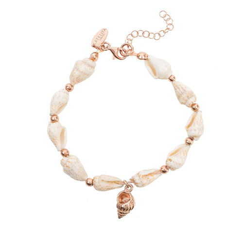 Rose Gold Plated Spiral Shell Bracelet ,[product vendor],JewelStreet