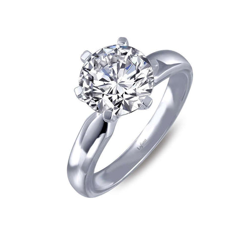 Lafonn Lassaire Solitaire 6-Prong Engagement Ring-Lafonn-JewelStreet US