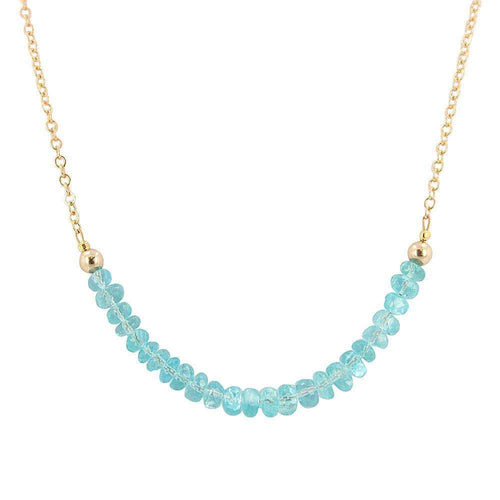 'Inspire Me' Apatite Gemstone Necklace-Zoe and Piper-JewelStreet US