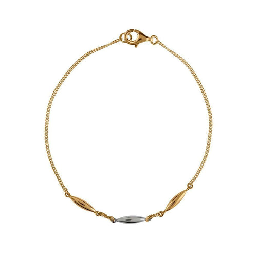 Hun Pitou Yellow Gold and Silver Rice Bracelet-Vurchoo-JewelStreet US