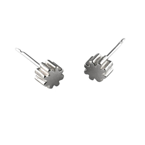 Sterling Silver Little Cog Stud Earrings