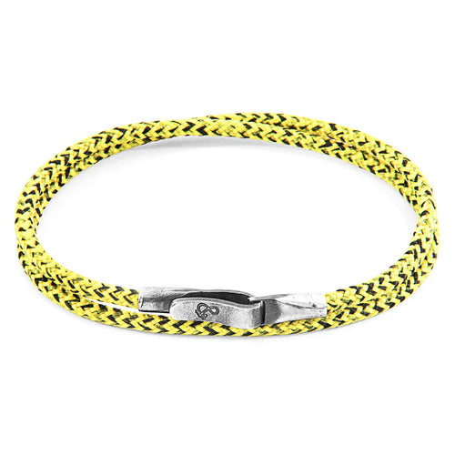 Yellow Noir Liverpool Silver and Rope Bracelet ,[product vendor],JewelStreet