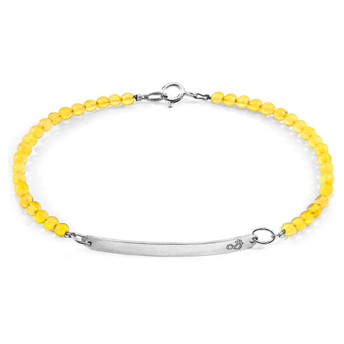 Yellow Amber Purity Silver and Stone Bracelet ,[product vendor],JewelStreet
