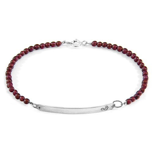 Red Garnet Purity Silver and Stone Bracelet ,[product vendor],JewelStreet