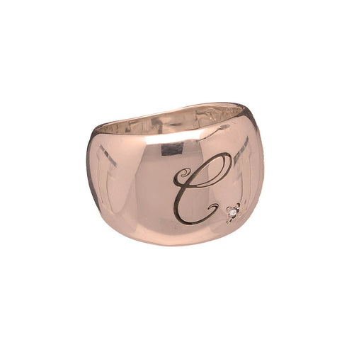 9kt Rose Gold Paola Signet Ring ,[product vendor],JewelStreet