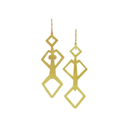 Plated Sterling Silver Adam And Eve Earrings