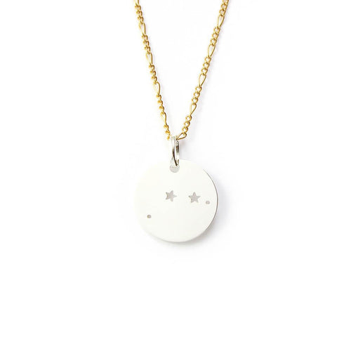 Silver & Gold Lucky Zodiac Pendant Necklace