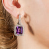 White Gold & Amethyst Drop Earrings | Katherine LeGrand