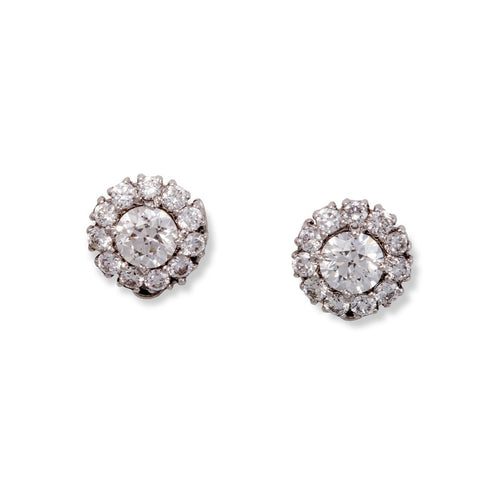 White Gold & Diamond Aria Stud Earrings | Katherine LeGrand