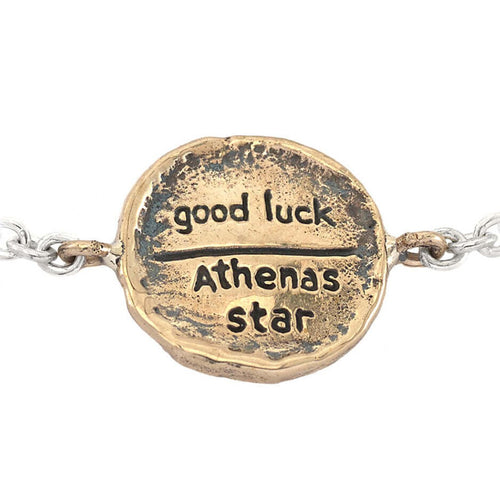 Bronze Good Luck Mini-Medallion Bracelet