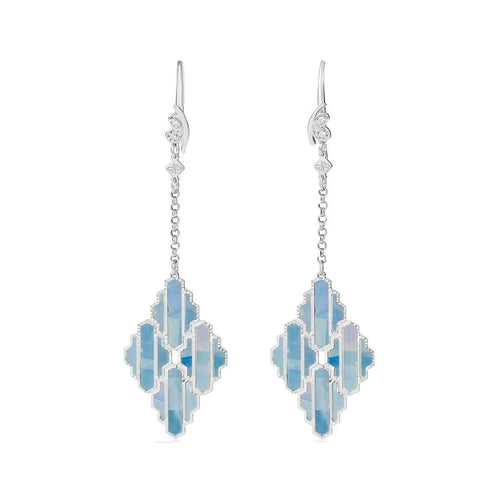 High Line Collection Earring Blue Mother of Pearl ,[product vendor],JewelStreet