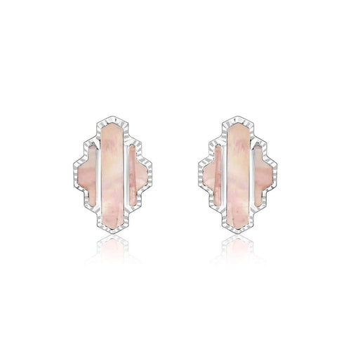 High Line Collection Stud Earring Pink Mother of Pearl ,[product vendor],JewelStreet