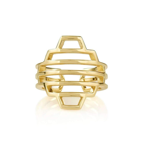 High Line Collection Dome Ring Yellow Gold Plated ,[product vendor],JewelStreet