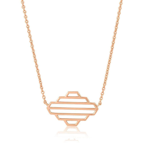 High Line Collection Necklace Rose Gold Plated ,[product vendor],JewelStreet