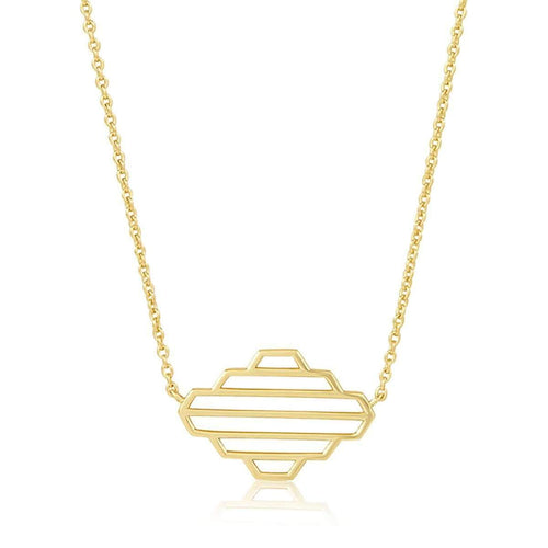 High Line Collection Necklace Yellow Gold Plated ,[product vendor],JewelStreet
