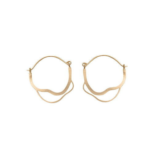 Yellow Gold Plated Meatus Earrings ,[product vendor],JewelStreet