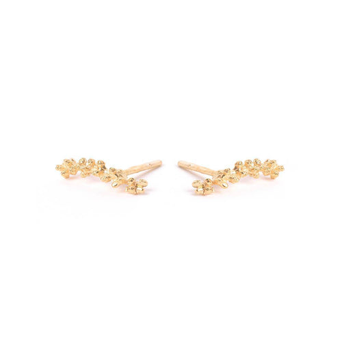 Yellow Gold Plated Mini Mimosa Earrings