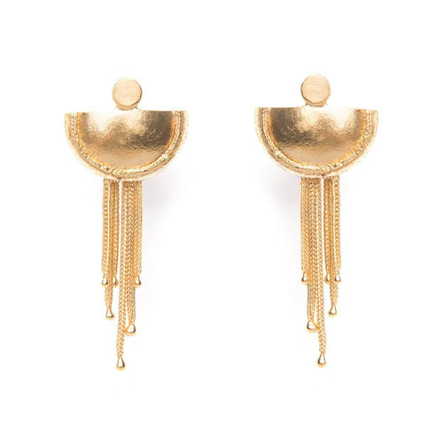 Yellow Gold Plated Beltia Earrings ,[product vendor],JewelStreet