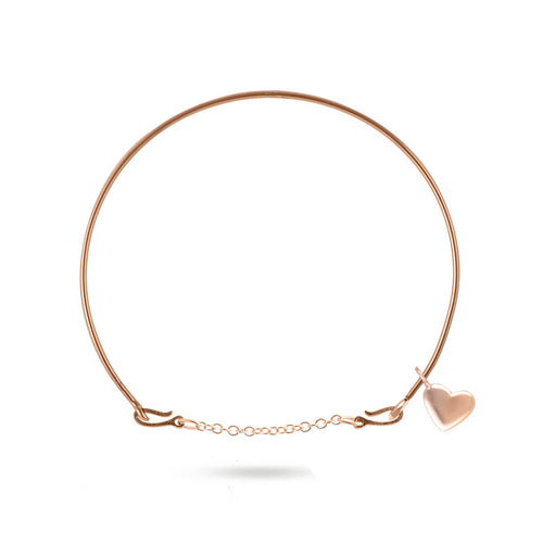 9kt Rose Gold Oro Rosa Cuore Bracelet ,[product vendor],JewelStreet