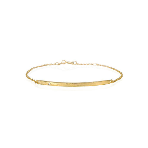 Boho Diamond Bar Gold Bracelet