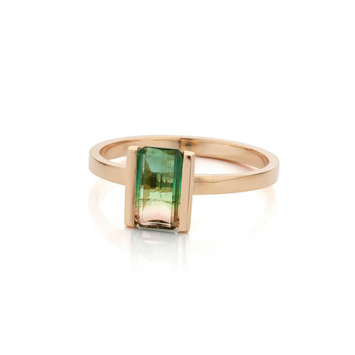 18kt Rose Gold Coup De Coeur Ring With Watermelon Tourmaline