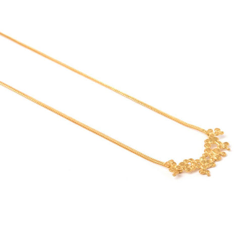 Yellow Gold Plated Small Ilhas Necklace ,[product vendor],JewelStreet