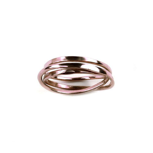 Cosmic Wedding Ring Rose Gold 3 Tier-FRAN REGAN JEWELLERY-JewelStreet US