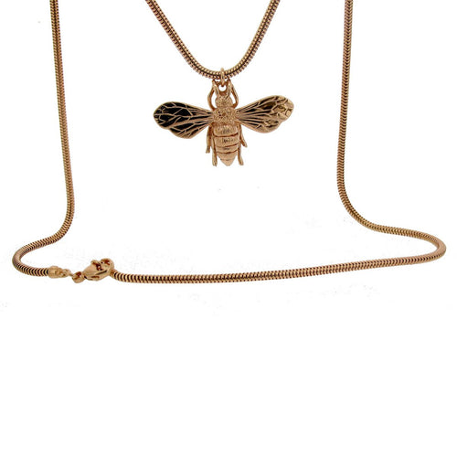 Rose Gold Vermeil Honey Bee Necklace