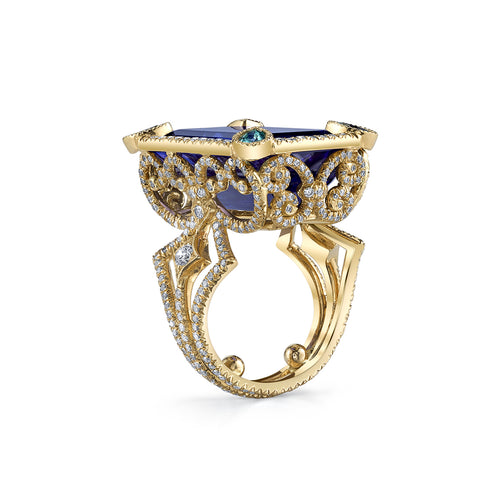 18kt Yellow Gold Coco Ring-Erica Courtney-JewelStreet US
