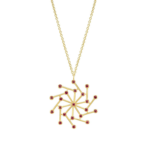 Cosmos Necklace With Red Spinel