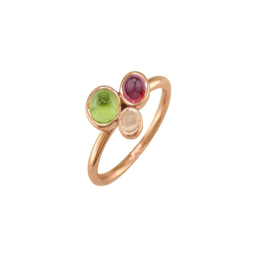 Rose Gold Multi-Gem Ring