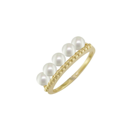 Burlington Yellow Gold Pearl Ring ,[product vendor],JewelStreet