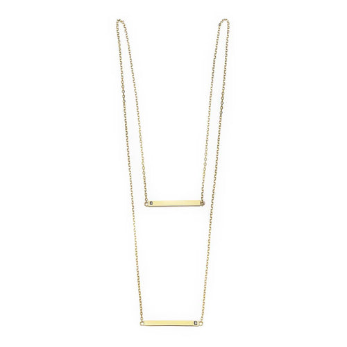 Double Linear Yellow Necklace