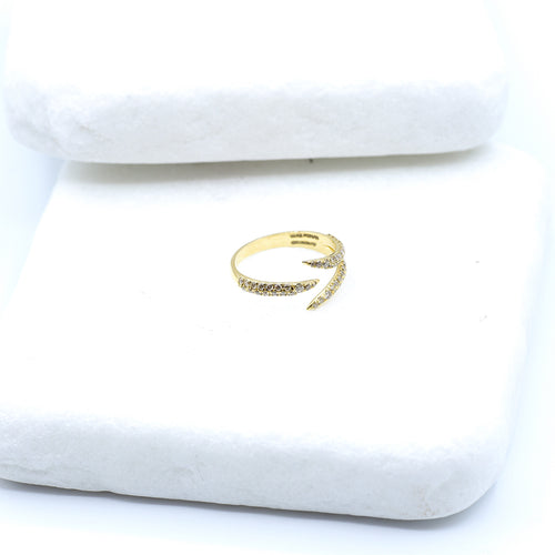 18kt Yellow Gold Diamond Claw Ring ,[product vendor],JewelStreet