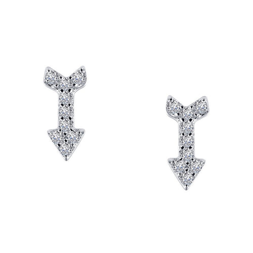 Arrow Stud Earrings-Lafonn-JewelStreet US