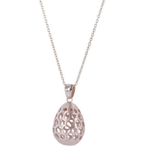 Rose Gold Vermeil Filigree Egg Pendant ,[product vendor],JewelStreet