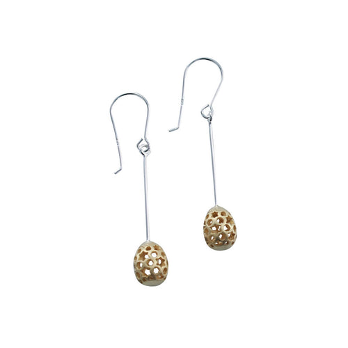 Filigree Egg Earrings ,[product vendor],JewelStreet