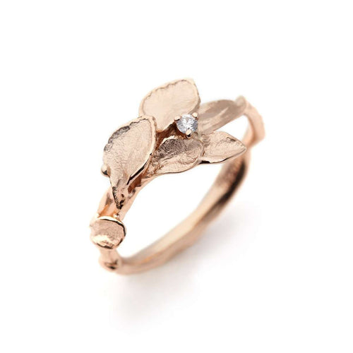 Windchime Ring 1 Rose Gold-Ehinger Schwarz 1876-JewelStreet US