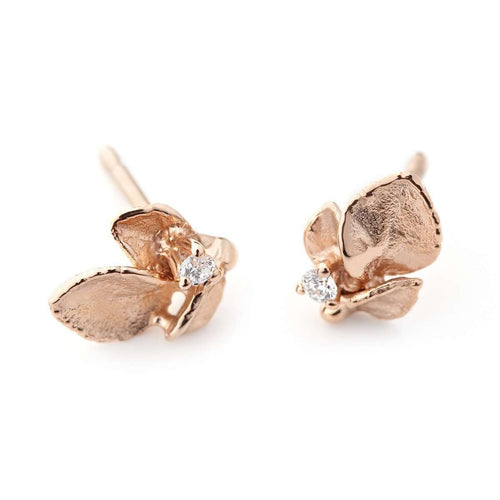 Windchime Earring 1 Rose Gold-Ehinger Schwarz 1876-JewelStreet US