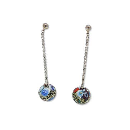 Murano Glass Bead Love Klimt Earrings  ,[product vendor],JewelStreet