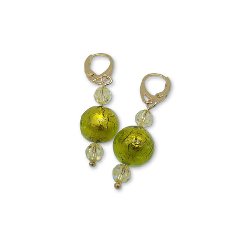 Murano Glass Bead Spring Love Earrings  ,[product vendor],JewelStreet